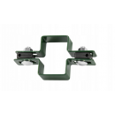 60x40 fi 4mm fence clamp pole post