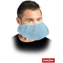 Mouth and chin mask with elastic band 100 pcs blue