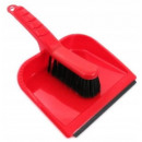 Plastic dustpan with scoop and brush