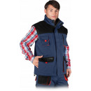 wholesale Coats & Jackets: Protective vest insulated navy blue vest