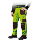 Yellow protective working trousers