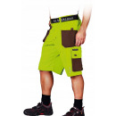 wholesale Trousers: Protective work shorts, yellow formen