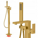 wholesale Heating & Sanitary: Free-standing bathroom faucet gold floor
