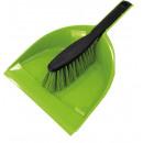 Großhandel Reinigung: Reinigungsbürste mit Kehrschaufel und Gummi