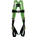 Safety harness adjustable with ring strap