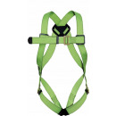 D-ring safety harness securing
