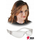 Anti-spatter safety glasses, wide openings