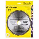 Wood circular saw 200 mm 60 t widia teeth