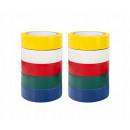Nastro isolante 10m / 10pz, set mix di colori