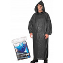 hurtownia Fashion & Moda: Płaszcz ochronny przeciwdeszczowy peleryna czarny
