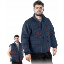 Protective work jacket, insulated vest, navy blue