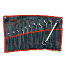 Set of wrenches 6-32 bent ring wrenches CRV 12sz