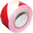 One-sided warning tape white-red 100
