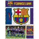 Soccer - FEUILLE ADHÉSIVE FCB Modèle 2