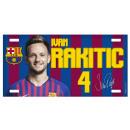Football - Plaque en métal FCB RAKITIC