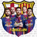 Football - Sticker FCB Petite Silhouette Escudo Eq