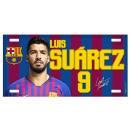 Football - Plaque en métal FCB LUIS SUAREZ