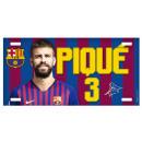 Futbol - Metallplatte FCB PIQUE