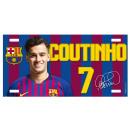 Football - Plaque en métal FCB COUTINHO