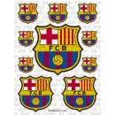 wholesale Licensed Products: Soccer - FCB ADHESIVE SHEET Model 4