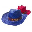 Football - Chapeau de paille FCB Couleur