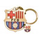 Futbol - Llavero FCB Juego escudo + pin circonita