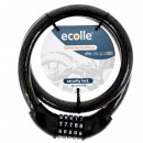 Ecolle Bicycle cable lock with number code 20 x 10