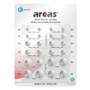 Arcas Set de 24 piles bouton AG + CR BP24