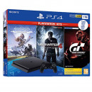 Sony PlayStation 4 Slim incl. Uncharted 4, Horizon
