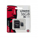 KINGSTON 16 GB Micro SD-kaart, enkele blister
