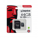 KINGSTON 64 GB Micro SD-kaart, enkele blister