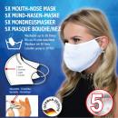 Antywirusowa ochrona ust i nosa wykonana z tkaniny