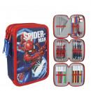 mayorista Material escolar: Spiderman estuche de lápices lleno Rojo / Azul