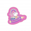 Peppa Pig Velours Forme Coussin - Rocket