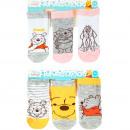 Großhandel Fashion & Accessoires: Winnie the Pooh Babysocken 3er Pack Grau/Gelb
