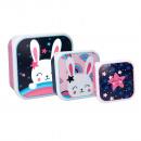Caja snack (3 en 1) - Conejo / Estrella