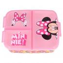 Minnie Caja de pan de ratón con múltiples comparti