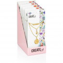 grossiste Bijoux & Montres: Create it! Collier 3 couches avec breloques Displa