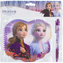 wholesale Gifts & Stationery: Frozen 2 Disney Notebook with pen look!!