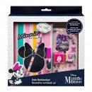 hurtownia Upominki & Artykuly papiernicze: Minnie mysz Notebook zestaw dekoracyjny - Paski