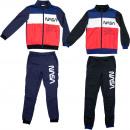 nagyker Ruha és kiegészítők: NASA Jogging öltöny - Piros/Kék