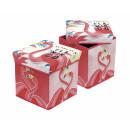 groothandel Klein meubilair: storage stool Flamingo As pink as a..