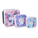 groothandel Licentie artikelen: Unicorn Snackbox ( 3 in 1 )