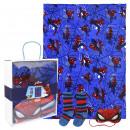 mayorista Artículos con licencia: Spiderman Set de regalo de franela de manta de vel