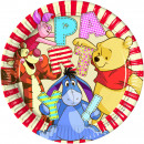 wholesale Party Items: Pooh 8 paper plates 23 cm
