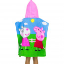 groothandel Licentie artikelen: Peppa Pig Poncho met capuchon