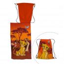 Großhandel Taschen & Reiseartikel: Lion King Strandtuch mit Badetasche