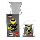 ingrosso Borse & Viaggi: Batman Telo mare con sacca da bagno