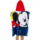 wholesale Umbrellas: Mickey Mouse Hooded poncho velour BIG M