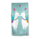 Beach towel - I ♥ Lama